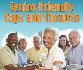 Senior-friendly caps and closures