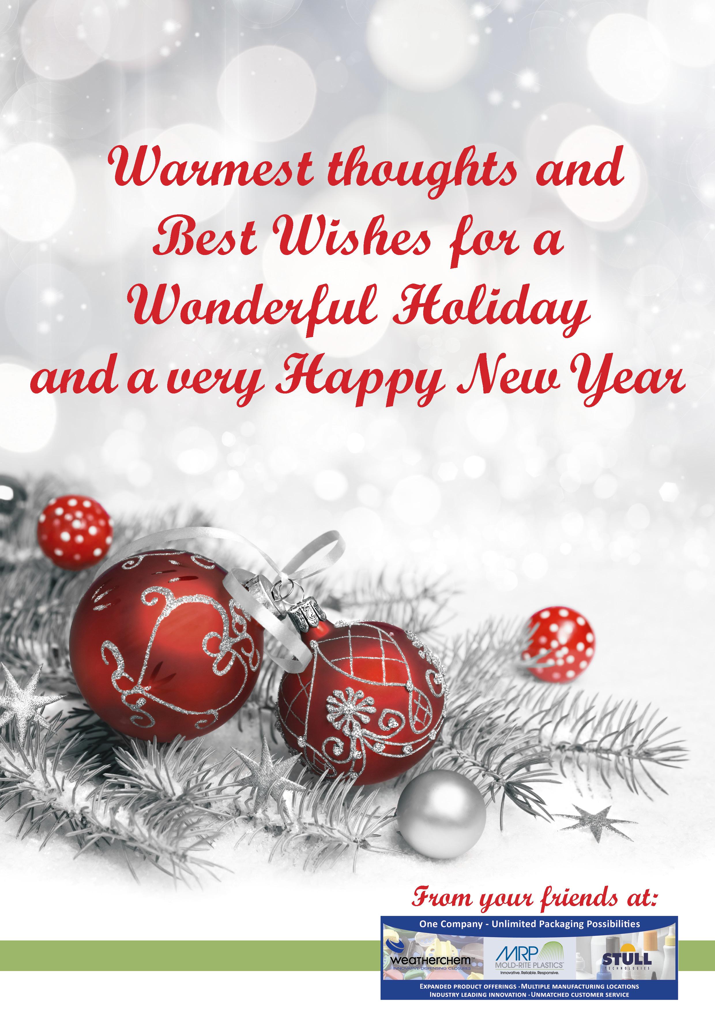 Happy Holidays from Mold-Rite Plastics
