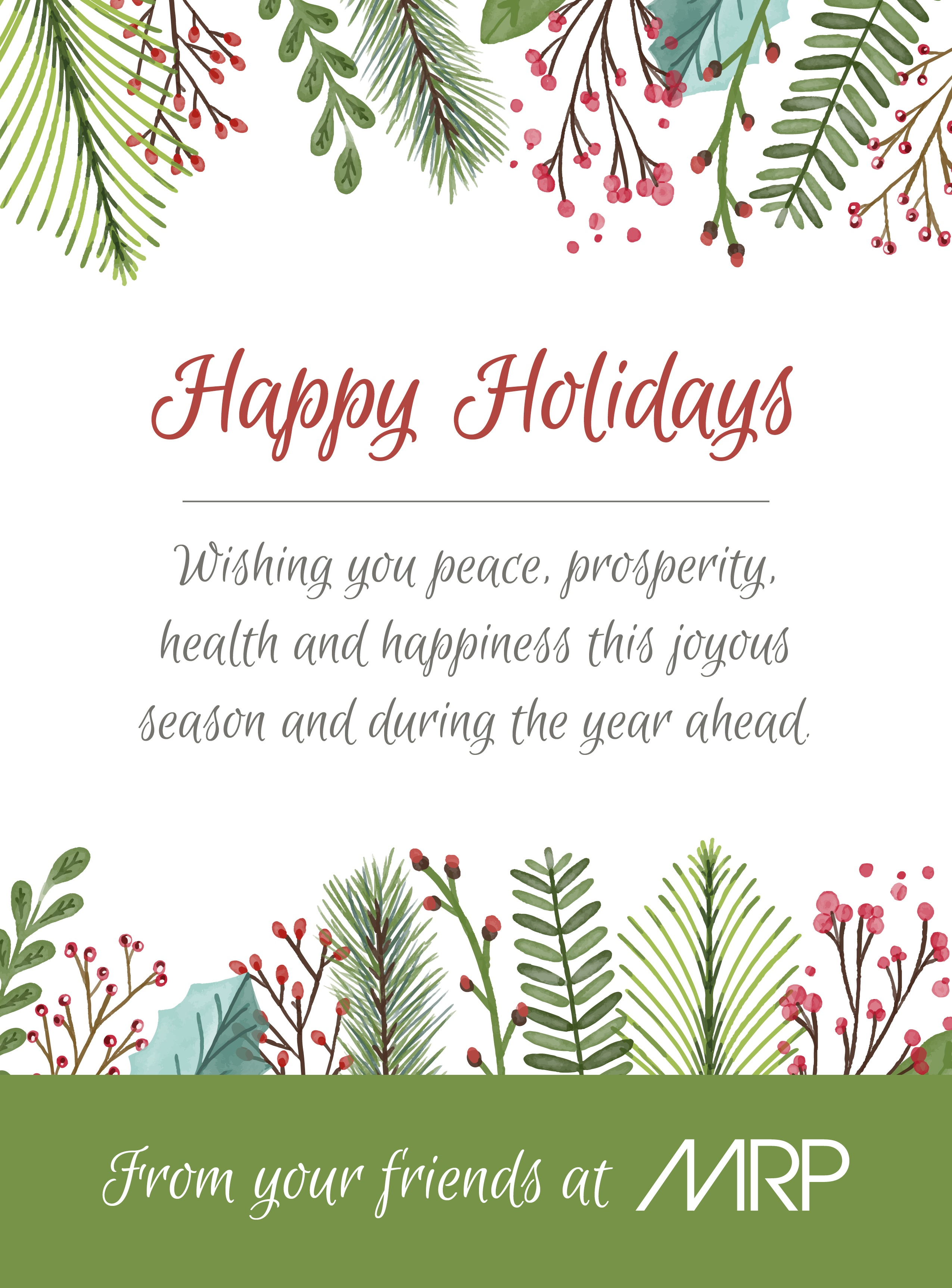 Cheers to the Holidays from Mold-Rite Plastics