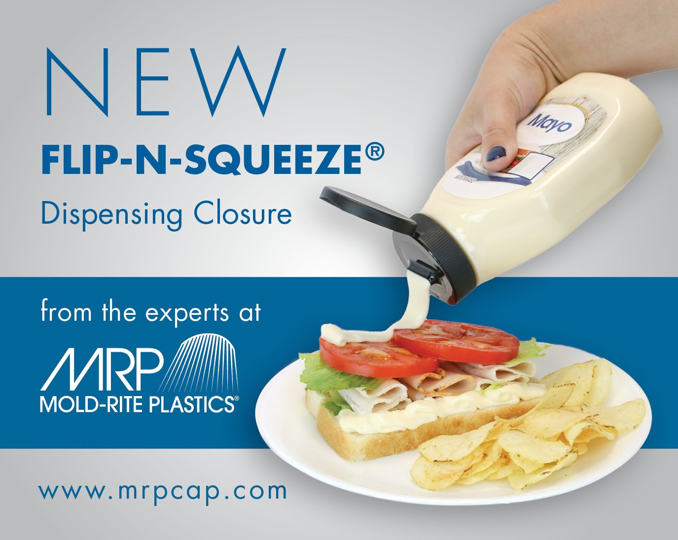 New Flip-N-Squeeze® Caps Are Perfect for Condiments and More